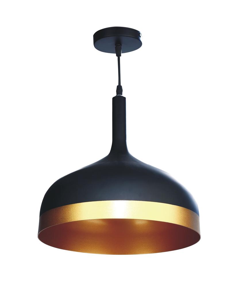 Apollo Indoor Hanging Light (Matt Black & Gold) E27 Holder ( Without Lamp )