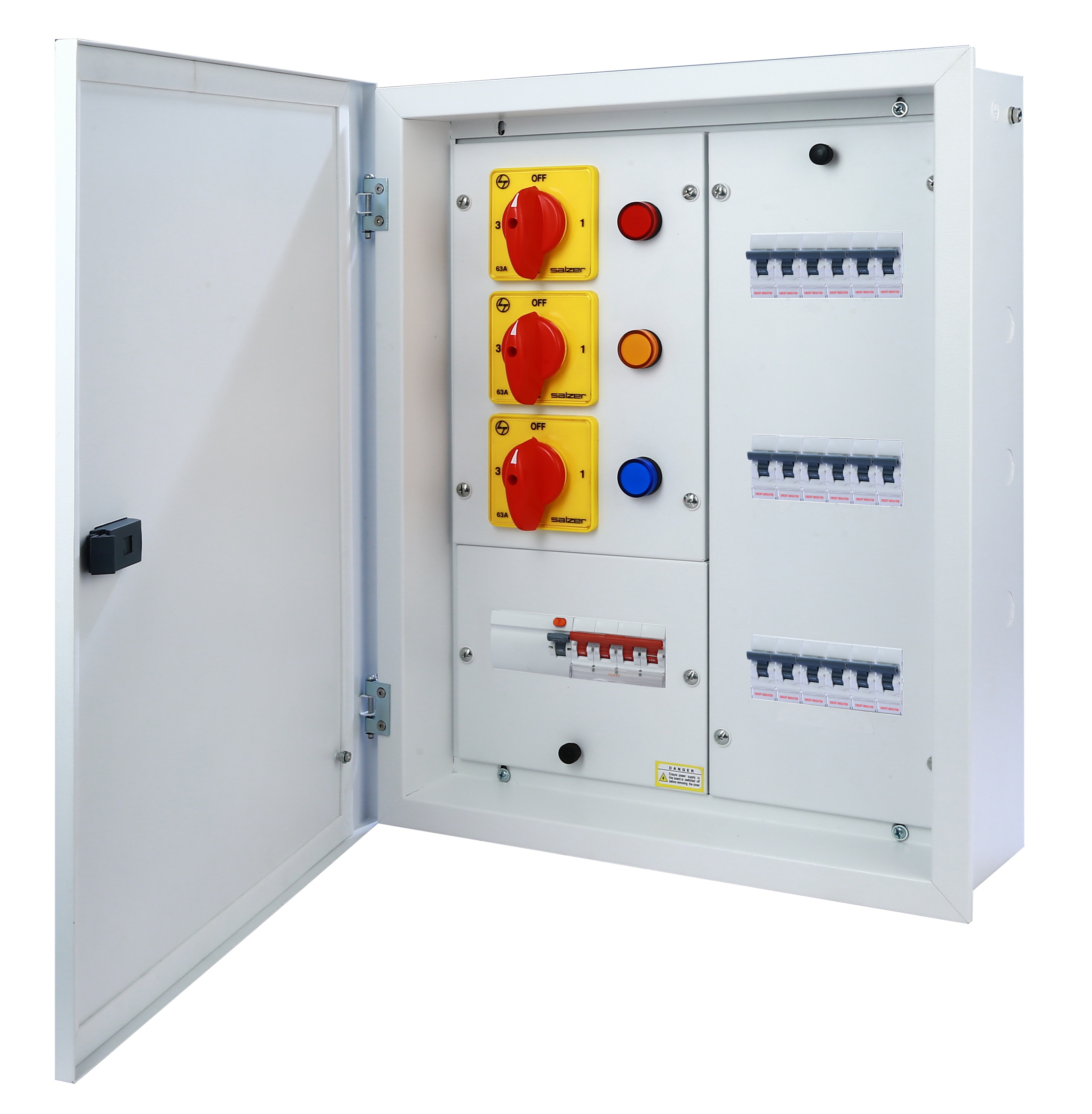 Manual Phase Selector Horizontal DB - 6 way ( With Extra Neutral Link )